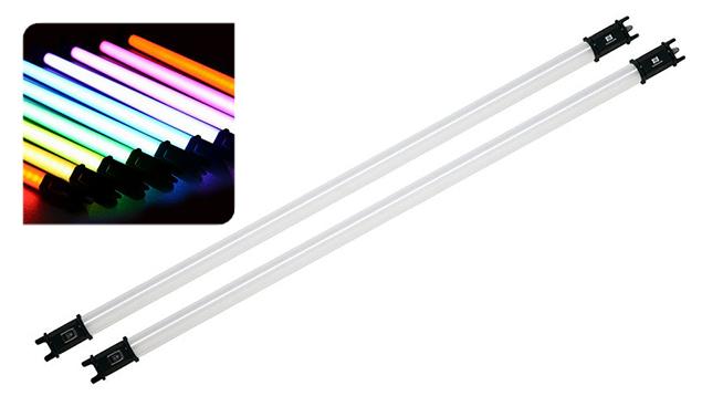 NanLite PavoTube 30C RGBW LED Tube Light with Internal Battery (117cm) x2