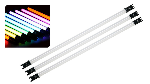 NanLite PavoTube 30C RGBW LED Tube Light with Internal Battery (117cm) x3