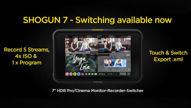 Atomos Shogun 7 7-inch 4Kp60 HDR Monitor/Recorder/Switcher - 3000nits