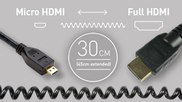 Atomos HDMI Cable - Micro Straight to Full (30cm)