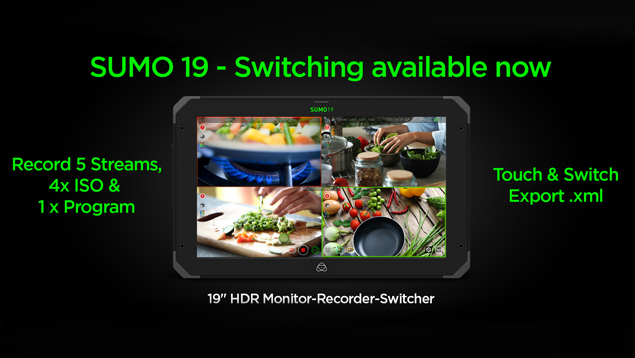 Atomos Sumo19 4Kp60 19-inch HDR Monitor/ Recorder/Switcher - 1200nits