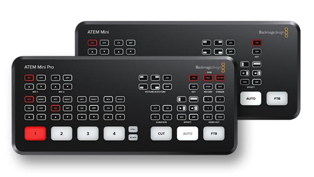 Blackmagic ATEM Mini & Mini Pro Multi Camera Switchers + Live Stream