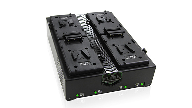 CORE Fleet Q4S Micro 4 Positional Rapid V-Mount Charger