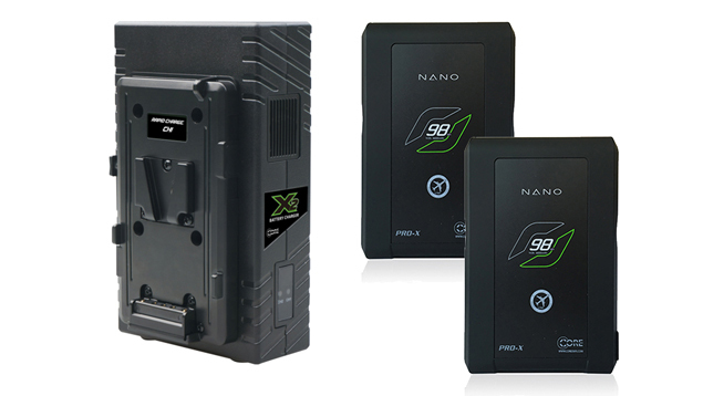 CORE SWX Nano 98 V-Mount Battery + X2S Charger (98WH)