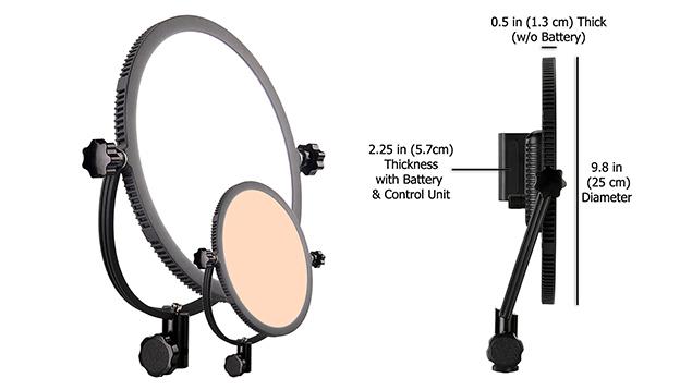 Lishuai Edgelight C-300RS LED Panel (25cm Round) Bi-Colour