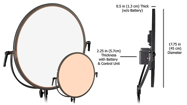 Lishuai Edgelight C-700RSV LED Panel (45cm Round) Bi-Colour