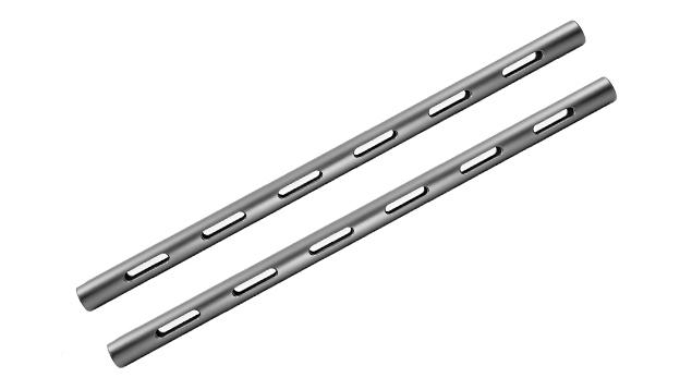 Kondor Blue 30cm PPSH 15mm Rod (Threaded, Space Gray) - 2 Pack