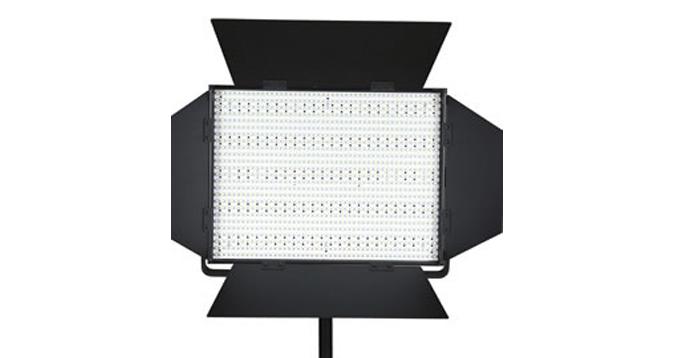 LEDGO 1200 LED Panel, V-Lock Battery Plate & Barndoors (Daylight)