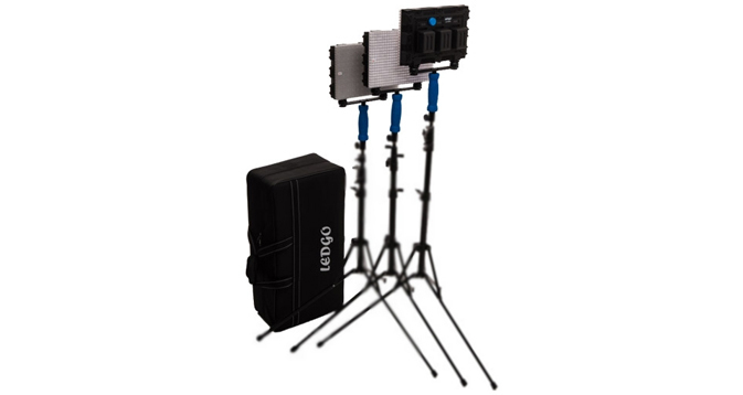 LEDGO 3 X 560 LED 5600K Interview Kit with Batteries & Carry Bag