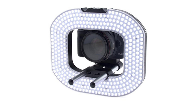 LEDGO 332 LED Macro Photography & Video Ring Light, Batteries & Charger
