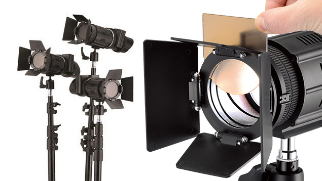 Lishuai 50W Focusable Compact Light Kit (3 x J-500K)
