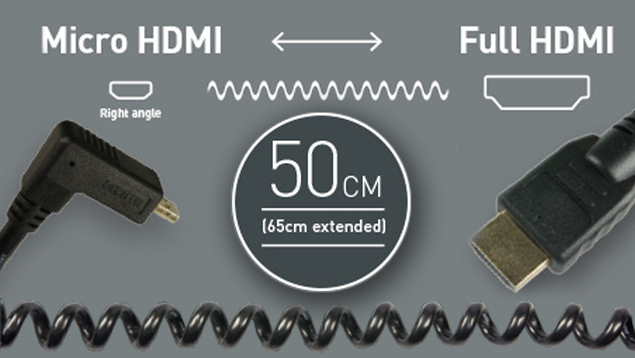 Atomos HDMI Cable – Micro (90⁰) to Full (50cm)