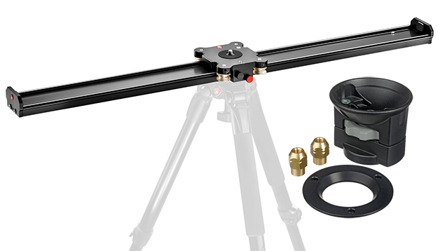 Manfrotto MVS100A 100cm Camera Slider + 325N Video Head Bowl Adapter