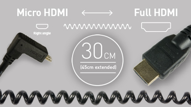 Atomos HDMI Cable – Micro (90⁰) to Full (30cm)