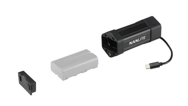 Nanlite PavoTube II 6C NP-F Battery Grip with USB-C Cable