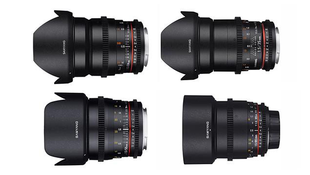 Samyang 24/35/50/85mm T1.5 VDSLR Cine Lens Bundle (EF Mount - Full Frame)
