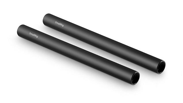 """SmallRig 1051 15mm Aluminium Rod (Pair, Black, 8"""")"""