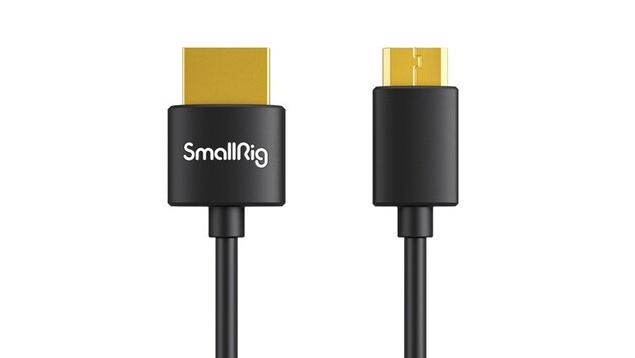 SmallRig 3040 Ultra-Slim Mini-HDMI to Full-HDMI Cable (35cm)