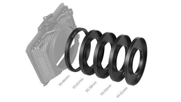 SmallRig 3383 Adapter Rings Kit (Φ52/55/58/62/86-95mm)