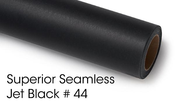Superior Seamless Background Paper - Jet Black #44 (2.72M)