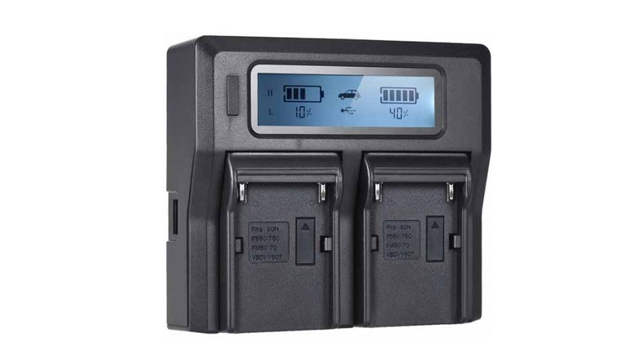 V-Gear VG-CHG9702 Dual Channel Pro Smart Charger for Sony NP-F Batteries