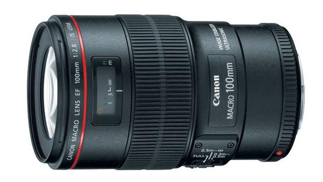 Canon EF 100mm f/2.8L Macro IS USM Lens (Full Frame)